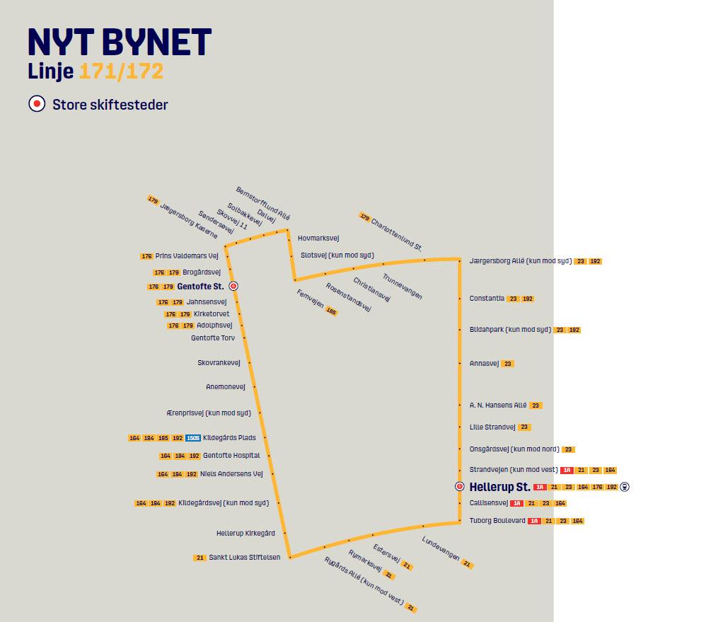 The new line 171/172 in Nyt Bynet - DOT