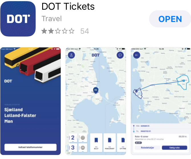 DOT Tickets app in app store