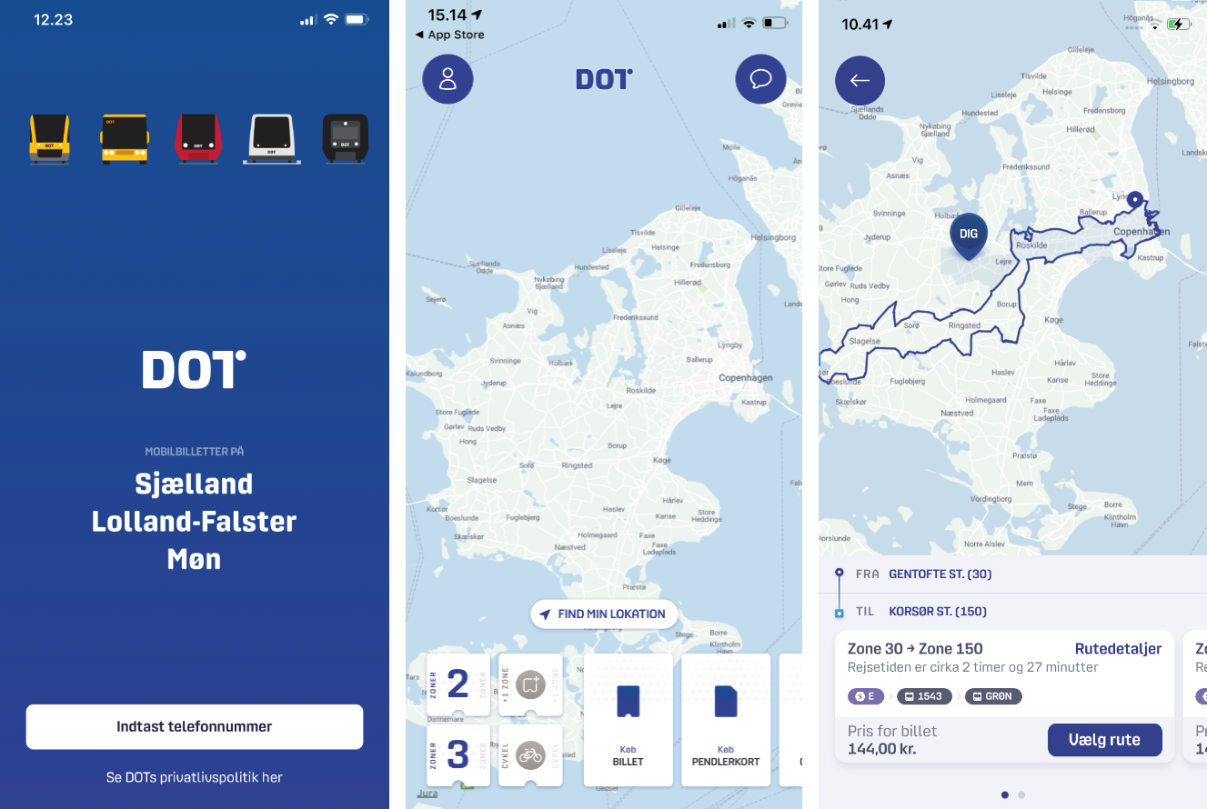 DOT Billetter app i app store